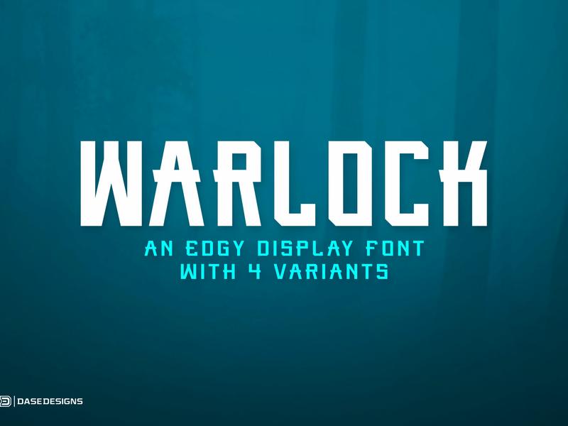 Warlock eSports Typeface