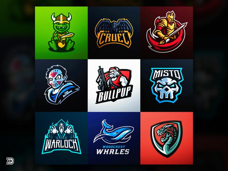 DaseDesigns Mascot Logo collection   Logofolio 2018 logo sports 2018 knights whale dragon skull bulldog turtle logo warlock gaming logo gaming esports logo daseedesigns mascot logo logofolio