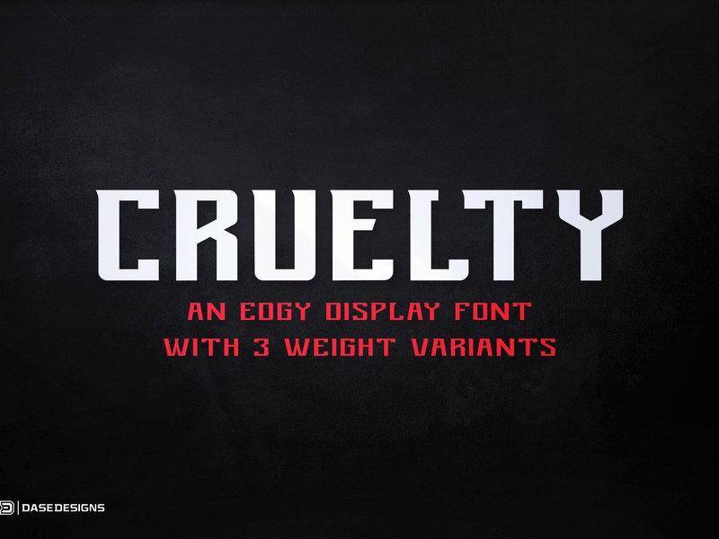 Cruelty eSports Font by Derrick Stratton on Dribbble