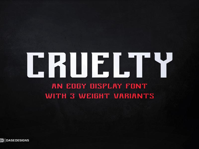 Cruelty eSports Font
