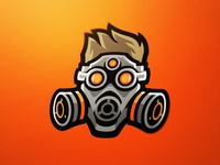 Fudgy Gas Mask Logo