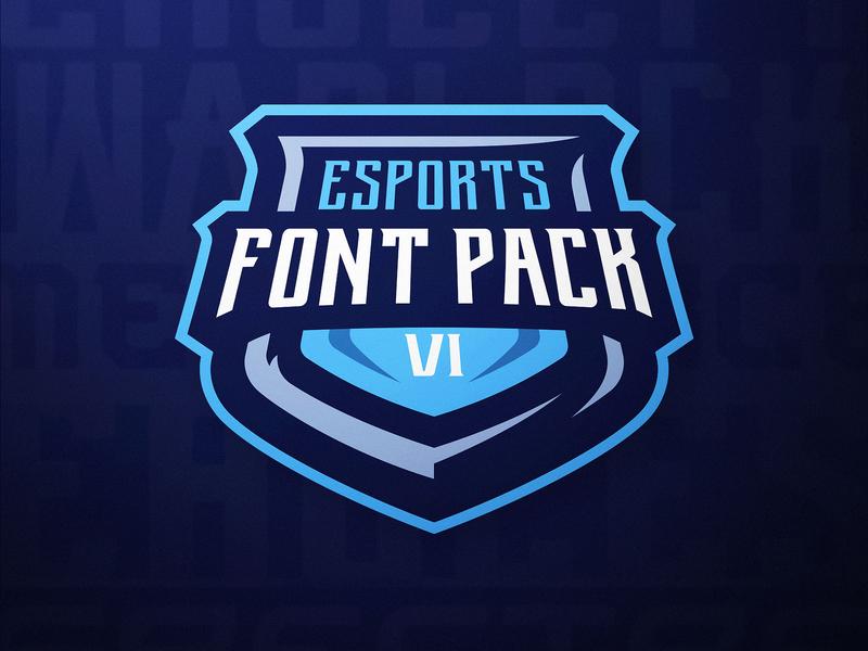 eSports Font Pack Vol. 1 DaseDesigns mascot logo design typography dasedesigns mascot design mascot logo gaming sports esports gaming logo esports logo font design font pack fonts sports font esports font