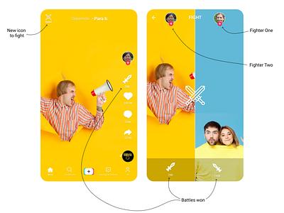 My bet for TikTok new feature: TikTok fights plain design idea new idea features ui uxui ux mobile tiktok fights feature bet tiktok