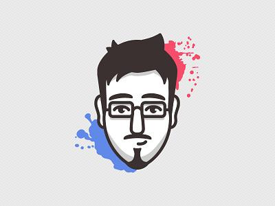 Selfie logo design logo flat minimal simple splats selfie vector illustration