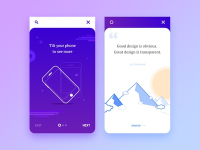 Onboarding - Adobe XD  quote ux ui adobe xd illustration mobile app onboarding