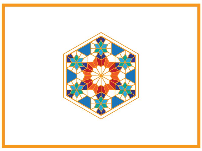 Tiled 002 motif tiles geometric illusration weddingcard