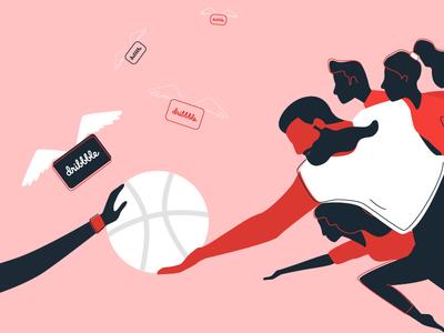 Dribbble <3 genesis michelangelo adobe vector illustration invite dribbble