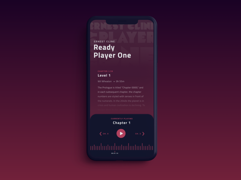 Audibook Player player ui library exploration book audiobook iphonex ios ux design user interface audio player player