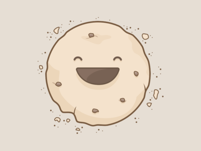 A happy cookie! chocolate happy cookie