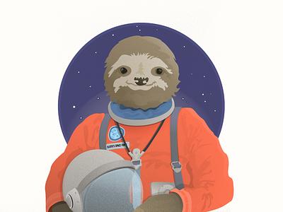 SlothStronaute vector illustrations sloth