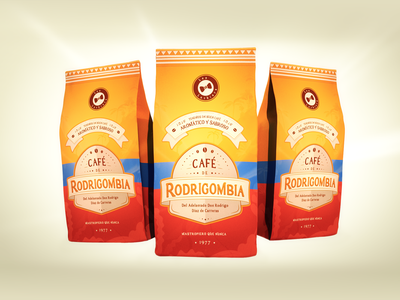 Rodrigombia | Coffee Brand identity les luthiers les luthiers coffee bag 3d