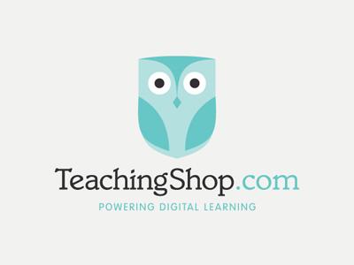TeachingShop.com Logo logo teachingshop lick owl identity brand branding blue turquoise