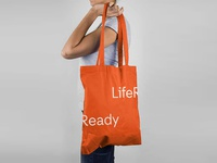 InsideOut Branding typeface font type typography orange life ready tote bag visual identity brand identity branding