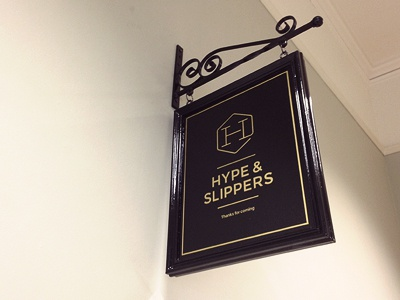 Hype   slippers studio sign
