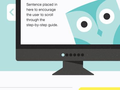 """""""Mr Pecker"""" website illustration carousel design"""