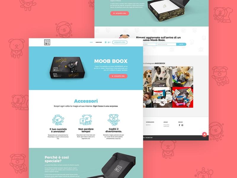 Moob.shop design pet ux ui sketch website design webdesign web