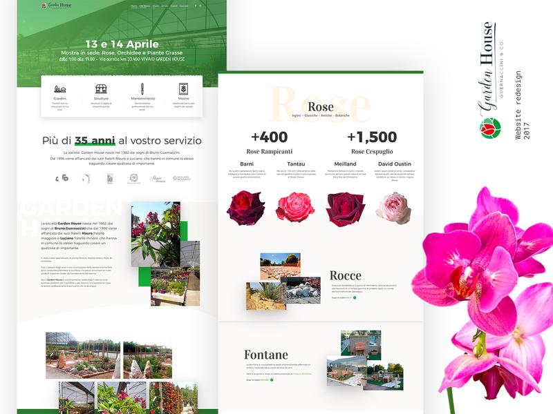 Garden House ui design uiux ui web design website web