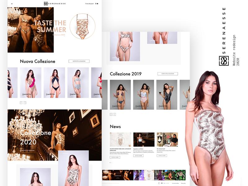 Website redesign for Serenaesse // 2020 webdesign ux typography branding design ui webdesig web
