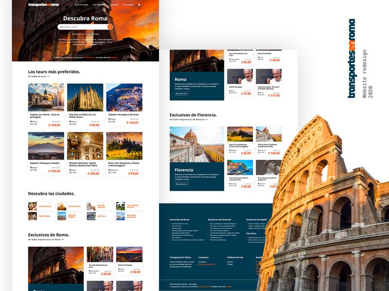 Transportes En Roma wordpress ux branding ui webdesign web design