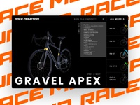 Racemountain branding brand ui design design uxdesign ux uiux webdesign website web bikes ui
