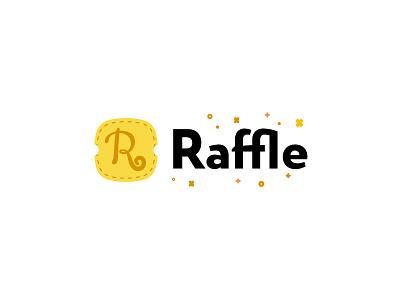 Raffle Logo - Ver.1 letter ticket illustrator logo