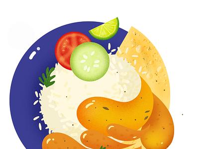 Dal Chawal food illustration illustrator food indianfood homefood digital illustration illustration