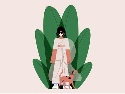 Indian Doggo character design fun saree indian dog illustrator digital illustration illustration