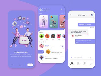 Messaging App app messaging app trending 2020 uiux