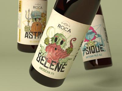 Roca - Craft Brewery Visual Identity beer label logo design graphic design visual identity craft beer label design branding logo illustration