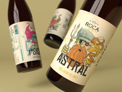Roca - Craft Brewery Visual Identity logo illustration craft beer visual identity graphic design label design branding