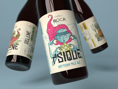 Roca - Craft Brewery Visual Identity design creativity graphic design label micro brewery craft beer visual identity logo design illustration beer label beer label design branding logo