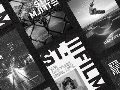 Streetfilm - Brand Identity modern urban street style poster design poster photography brand identity brand desing logotype visual identity logo design logo graphic design branding