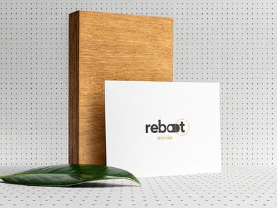Reboot - Tech Cafe - Naming, Logo and Brand Design cafe coffee logo beverage coffee shop design logotype logo visual identity logo design graphic design branding