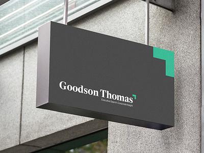 Goodson Thomas - Rebranding office corporate business logotype logo visual identity logo design graphic design branding