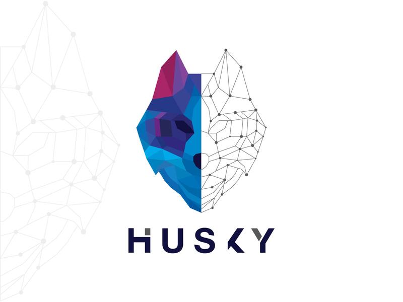 Husky minimalist creative logo design