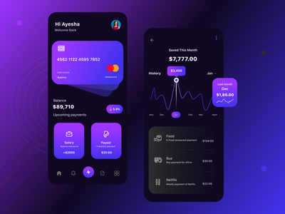 Financial Assistant App Concept motion graphics branding trending 2021 product design typo 2021 typography app interface user interface uiux visual communication trending trend 2021 mobile application online bank app banking online banking mastercard card app bank app finance app