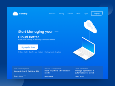 Cloud Computing  - Header Design cloudify concept illustration web header cloud computing