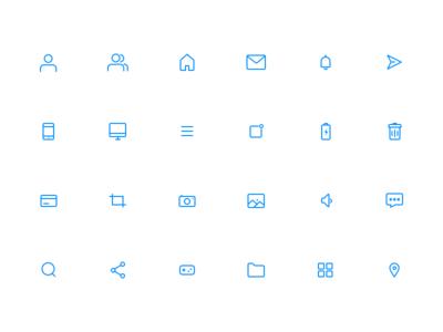 Icon Sets icon pack freebie ui elements blue ui icon sets