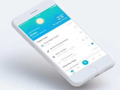 ToDo App - Concept emoticon emojis screens ui user-interface to-do app ios