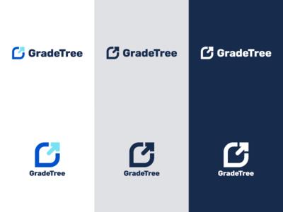 GradeTree - Branding logo variations education app design logo education startup gradetree wordmark logomark branding