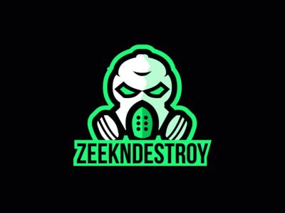 ZeekNDestroy - Mascot Logo streamer gaming mascot gasmask branding vector logo illustration