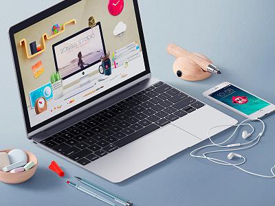 Brand & Web Design to bunga-studio.com web desk background movil pencil studio monkey art design brand