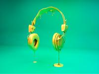 Headphones dripping