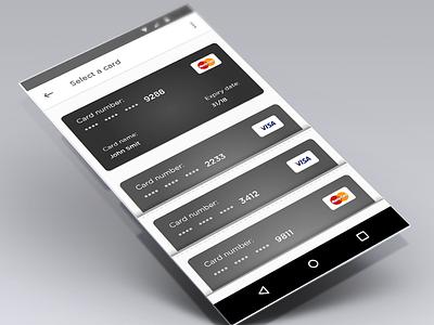 Wallet card android wallet mobil onboarding card iphone ux app ui illustration design