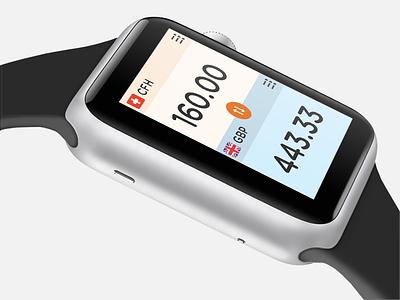 Apple Watch Currency App smart watch currency iwatch ui watch freebie free apple ux app concept