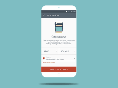Coffee Payment App coffee payment pay menu android icon mobile ui app