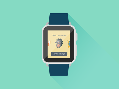 Tamagotchi APP concept ux animals fun kids play iwatch icon mobile ui app