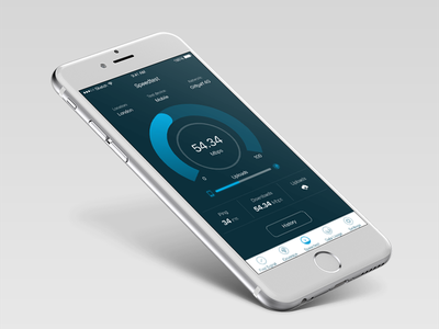 Speed Test visual ux ui test speed mobile iphone ios interaction app