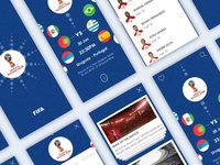 FIFA World Cup Russia 2018 App UI