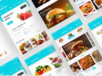 Material design UI PSD for Food Delivery App